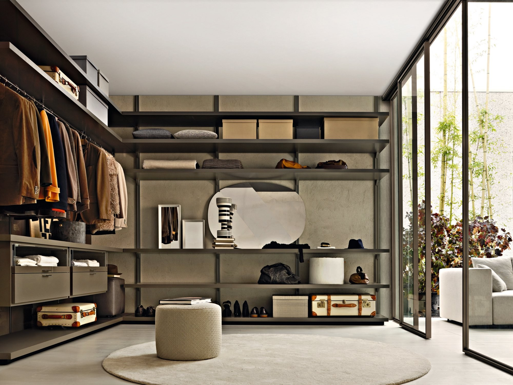 molteni c gliss walk in wardrobe buy from campbell watson uk. Black Bedroom Furniture Sets. Home Design Ideas