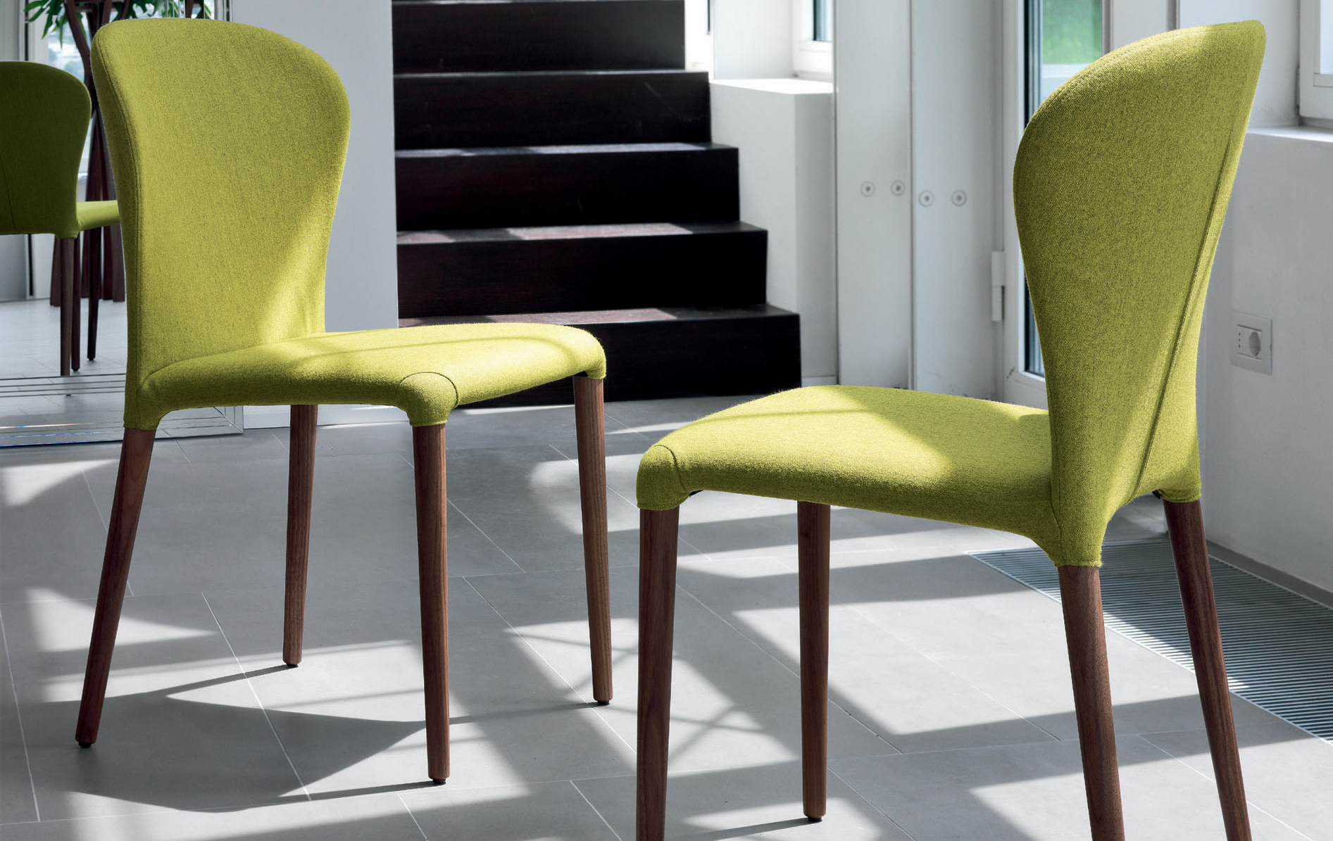Modern designer dining chairs campbell watson for Modern trendy furniture