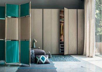 Text Hinged Door Wardrobe