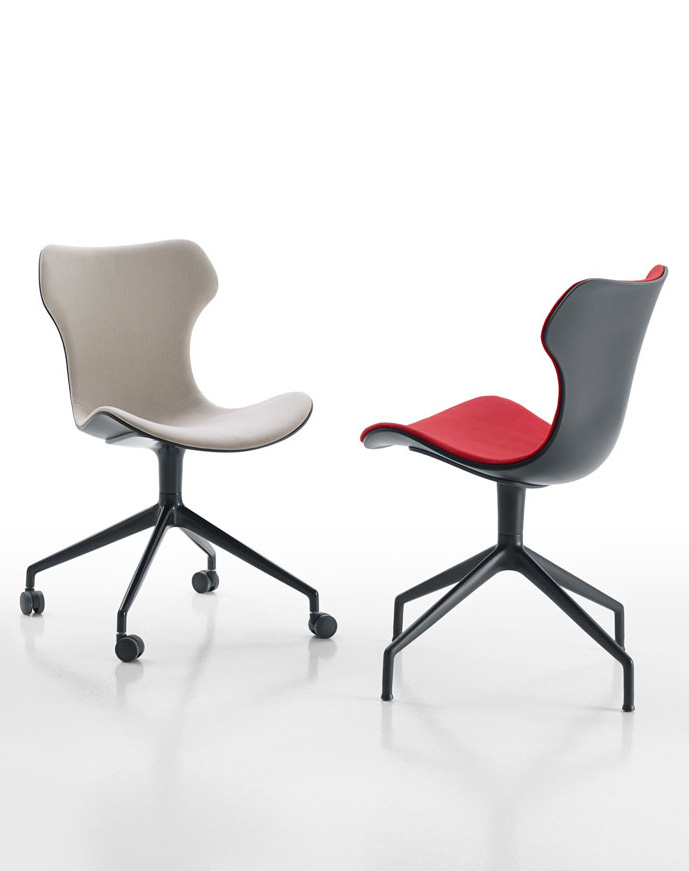b b italia papilio shell desk chair buy from campbell watson uk