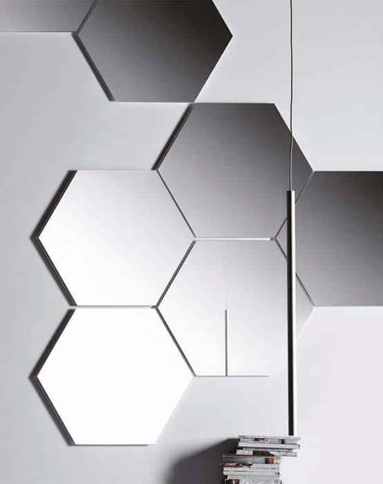 Pianca Hexagonal Geometrika Mirror Buy From Campbell