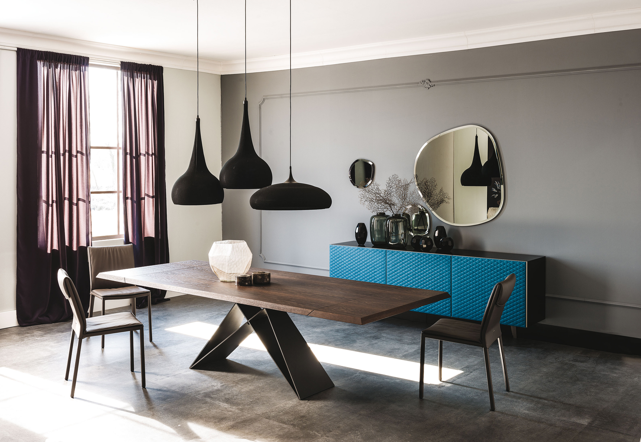 cattelan italia premier drive wood table buy from campbell watson. Black Bedroom Furniture Sets. Home Design Ideas