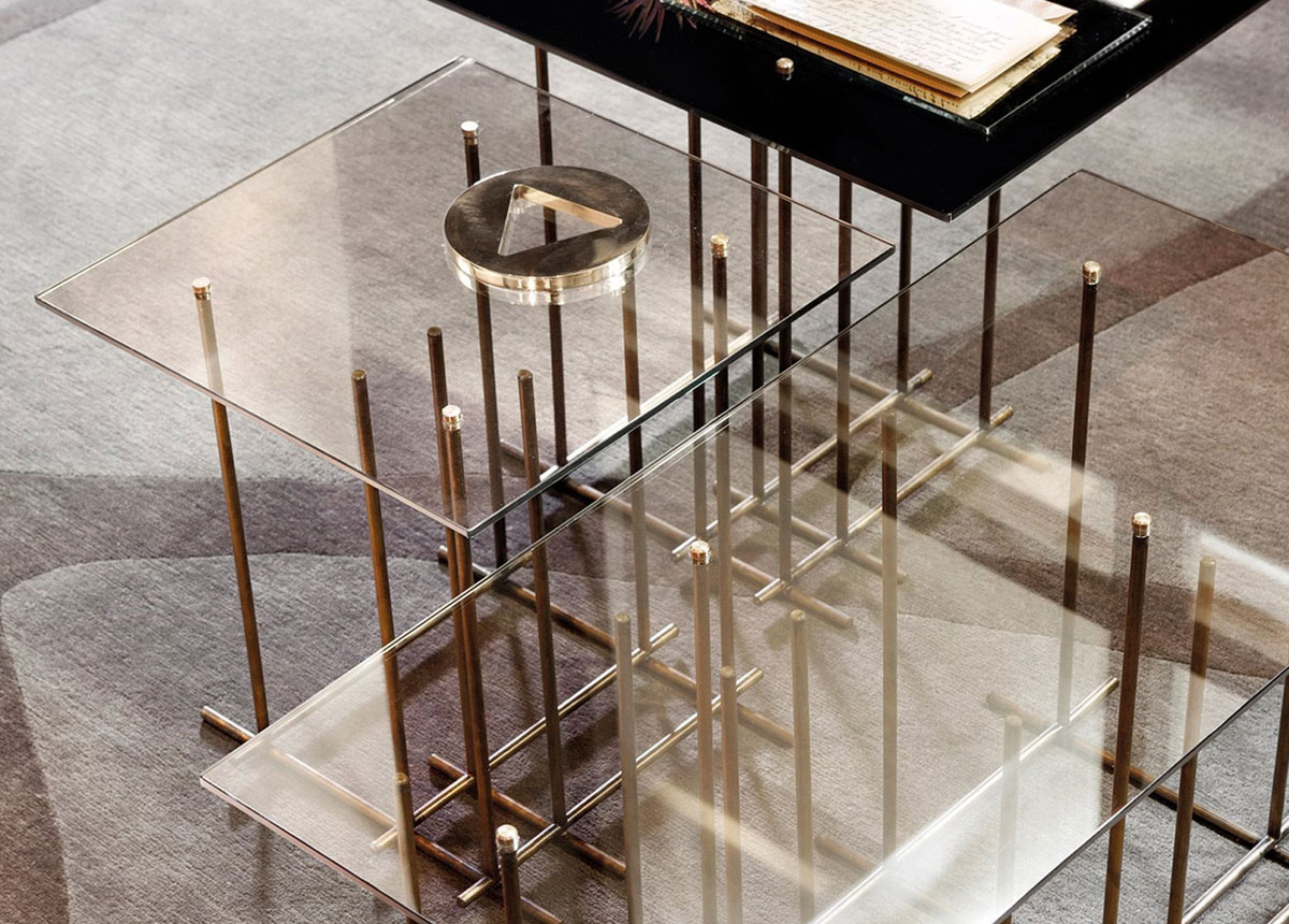 Gallotti Tetris Glass Table