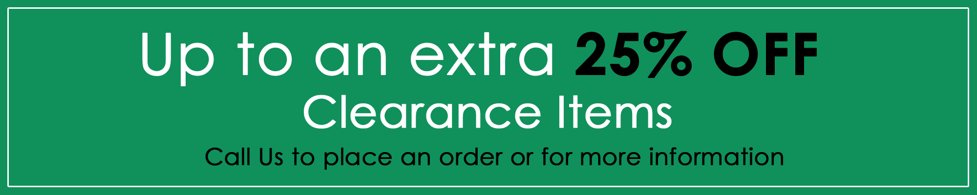 Clearance Offer