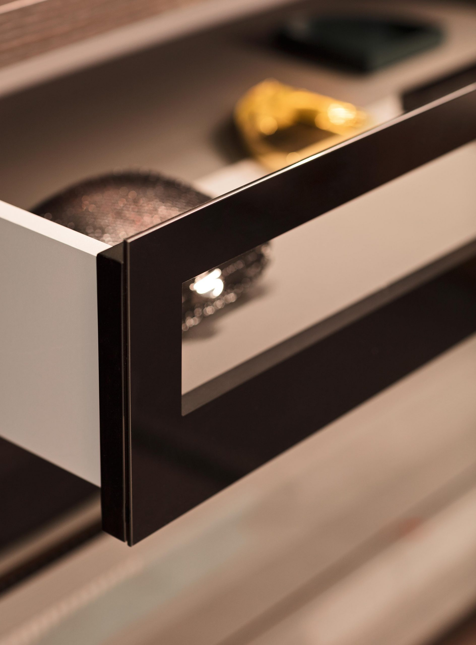 Glass Front Drawers