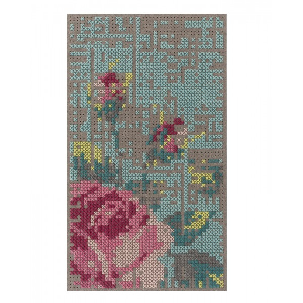 GAN Flower Canvas Rug