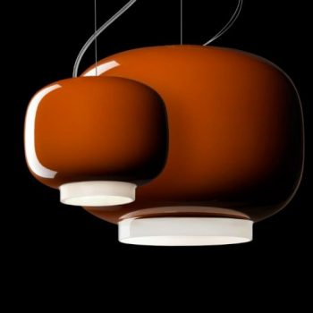 Clearance: Chouchin Mini 1 Orange Suspension Lamp Foscarini (New)